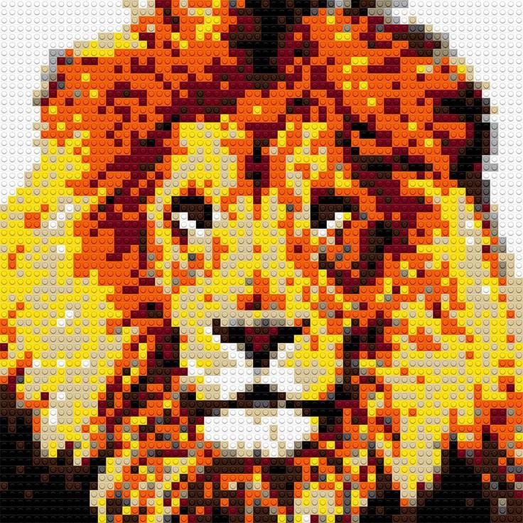 """Lion, 20""""x25"""""""