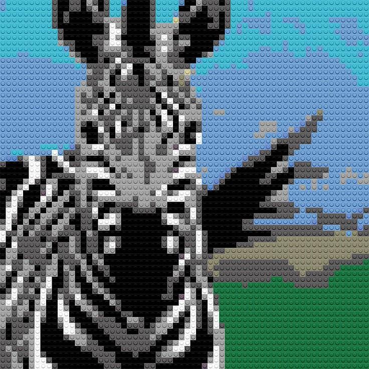 """Zebra, 20""""x25"""""""