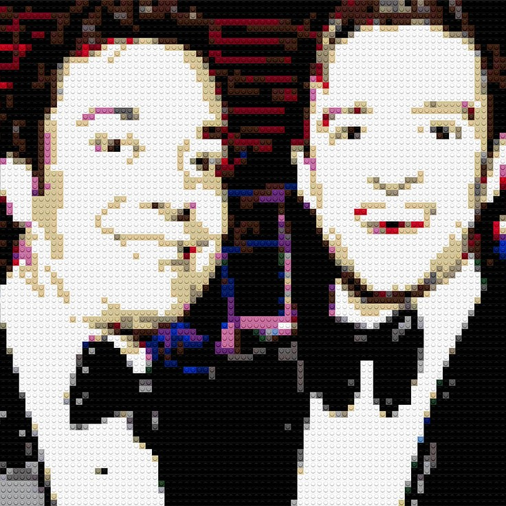 "Jimmy Fallon and Justin Timberlake, 35""x20"""