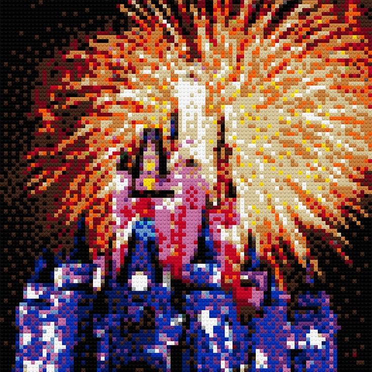 "Disneyland Fireworks, 20""x30"""