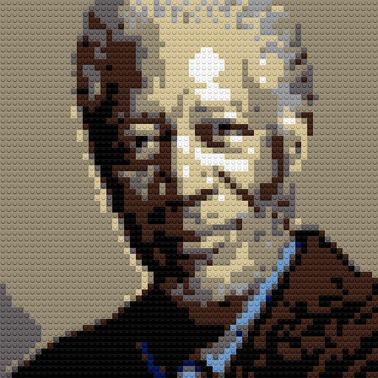 "Morgan Freeman, 20""x25"""