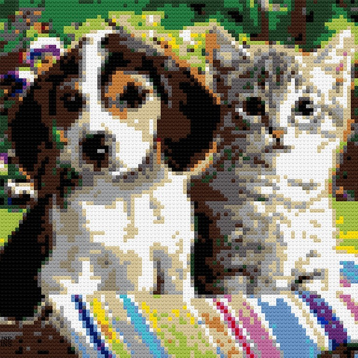 "Puppy and Kitty, 40""x30"""