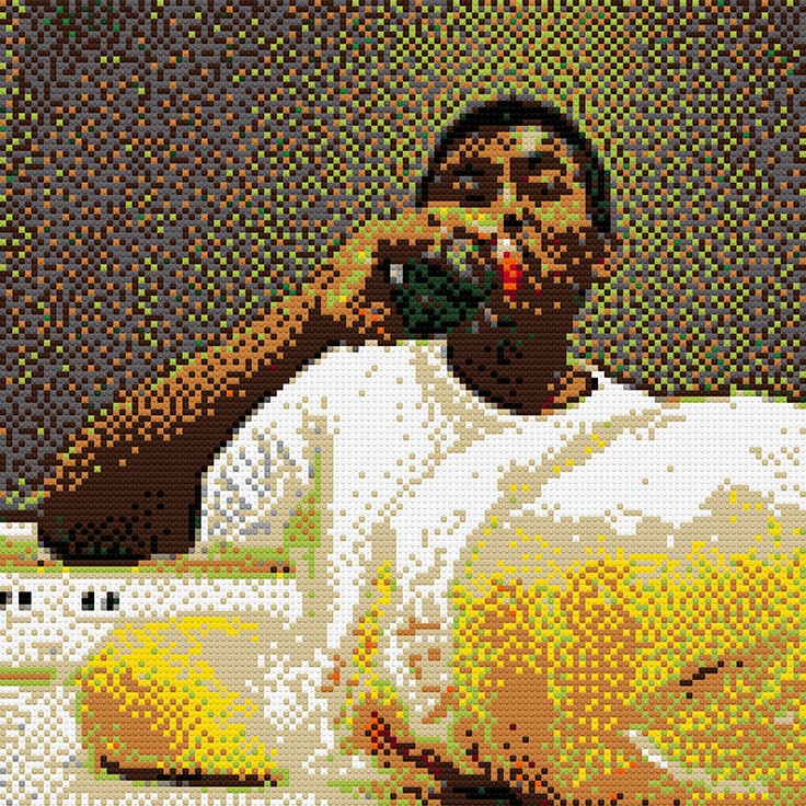 """""""Coke and Bagels,"""" 40""""x50"""""""